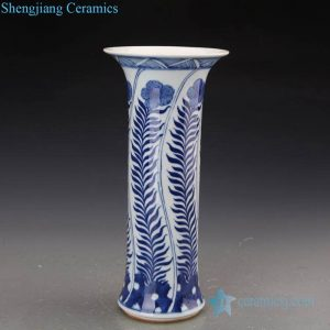 RZJI04-C Chinese traditional grass design ceramic decorative vase
