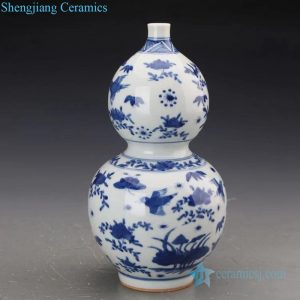RZJI06 High skilled hand painted floral and bird design ceramic vase