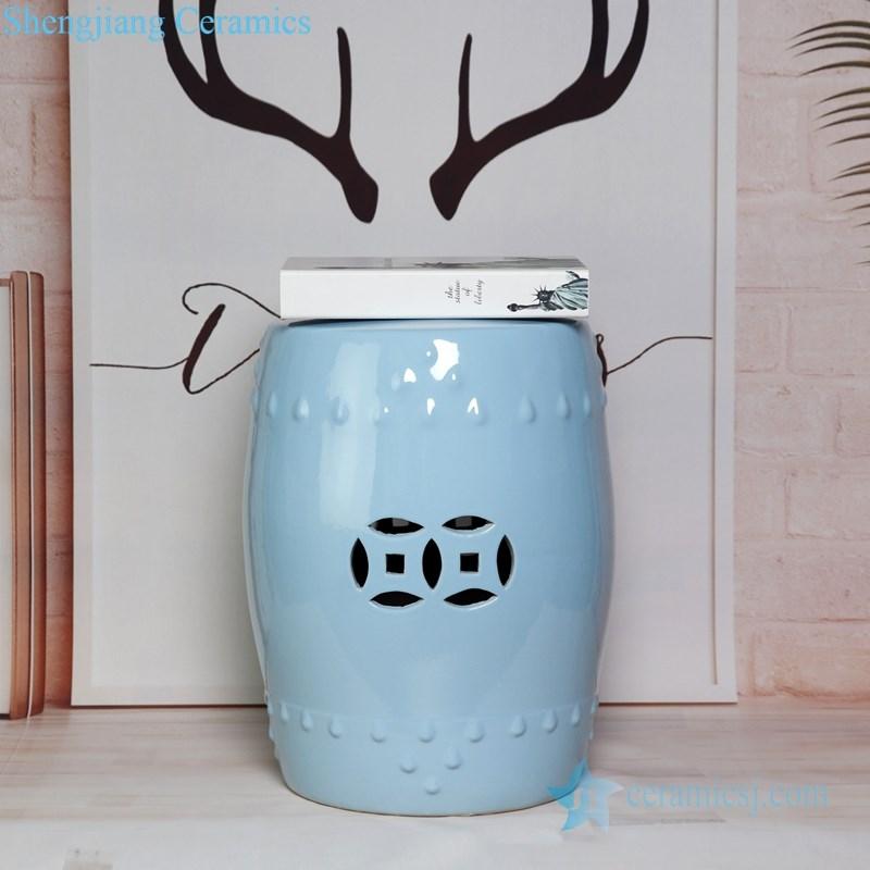 light blue ceramic seat