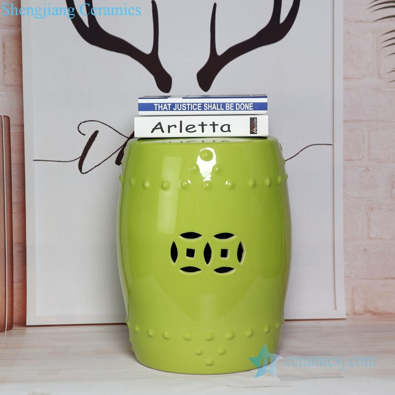 green ceramic seat