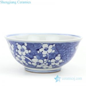 RZKT25-A Chinese traditional wintersweet design ceramic bowl