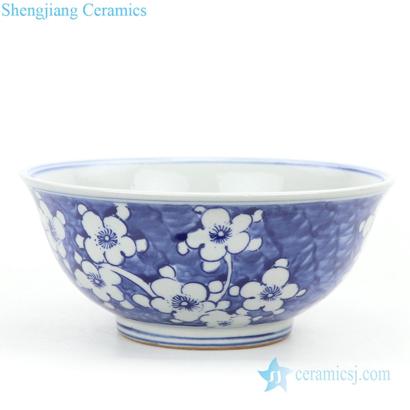 flower design ceramic bowl
