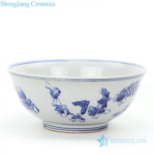RZKT25-B Simple style wholesale children design ceramic bowl