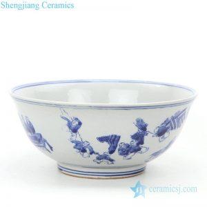 RZKT25-B Simple style wholesale children design ceramic bowl