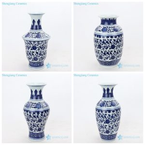 RZMX07-10 Valuable blue and white interlocking branches of lotus design ceramic vase