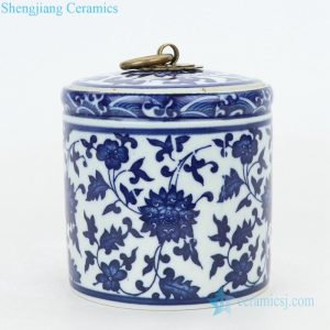 RZNV05 Jingdezhen high temperature fired ceramic tea jar