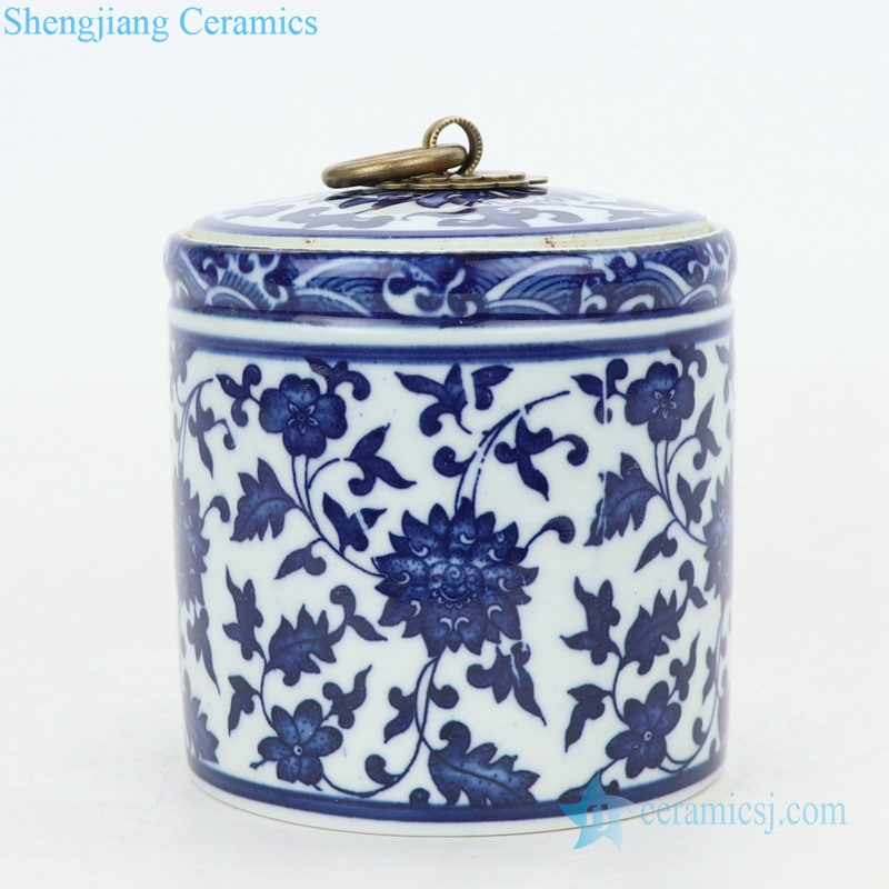 column ceramic tea jar