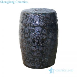 RZPZ01 Arts and crafts elegant relief pattern ceramic stool