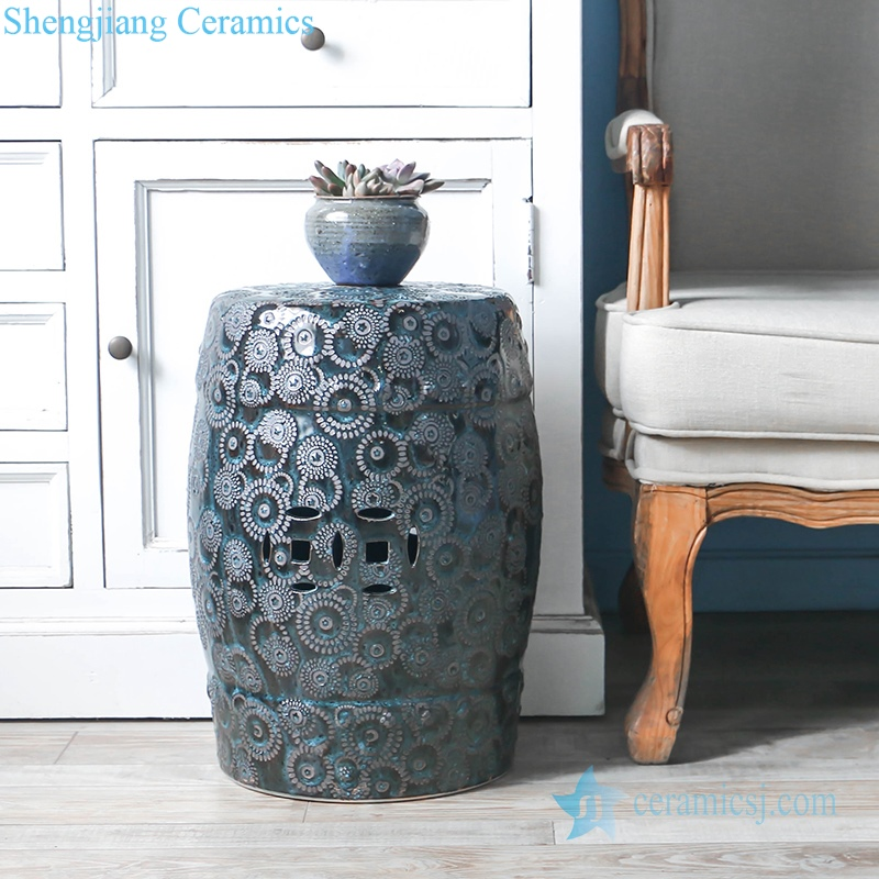 elegant ceramic stool