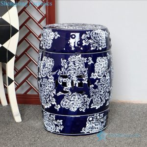 RZPZ04 High skilled hand painted blue and white porcelain stool