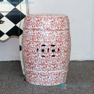 RZPZ05 Shengjiang company high quality underglaze red ceramic stool