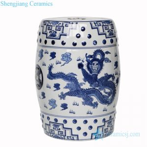 RZPZ06 Jingdezhen traditional dragon pattern ceramic stool