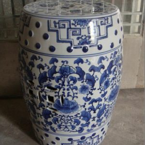 RZPZ08 Hand craft beautiful flowers design ceramic stool