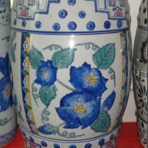 RZPZ11 Mixcolor ceramic with special flowers pattern stool