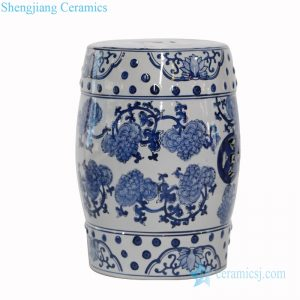 RZPZ17 Chinese antique never fade flower design ceramic stool