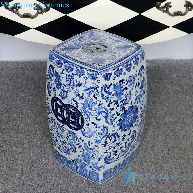 four sides ceramic stool