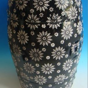 RZPZ23 Shengjiang advanced snowflake design ceramic stool
