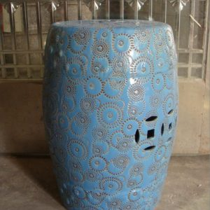 RZPZ25 Light blue high temperature fired porcelain stool