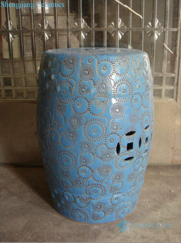 hand carved ceramic stool