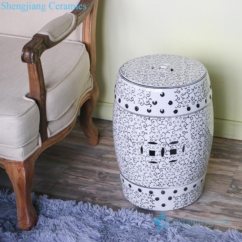 delicate ceramic stool
