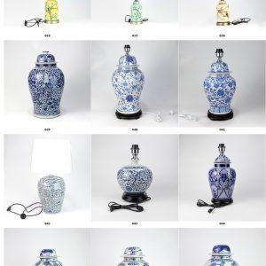 2019 Shengjiang new European style elegant ceramic tablelamps