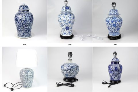 2019 Shengjiang new European style elegant ceramic tablelamps