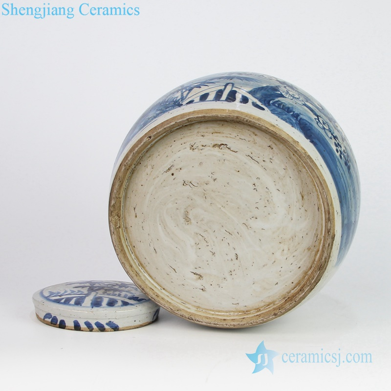 pine bamboo winter sweet clay jar
