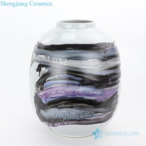 RZMS18-A Gradual change purple to black art ceramic vase