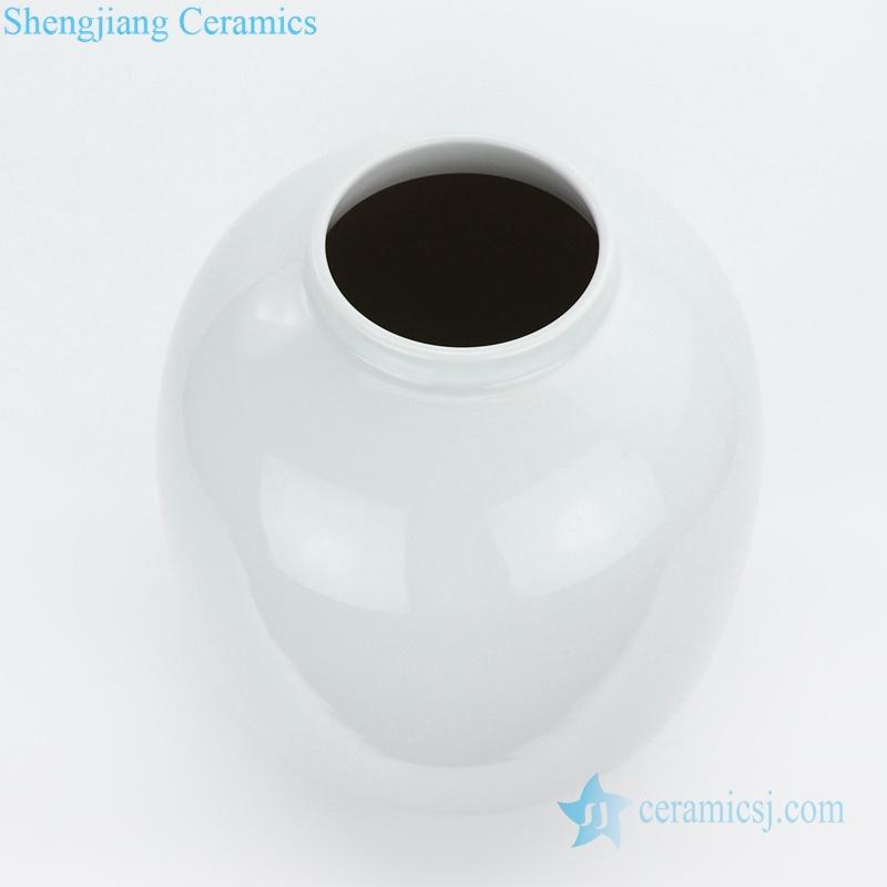Chinese date shape ceramic white vase