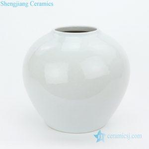 RZMS19 Shinny glaze pure white porcelain vase