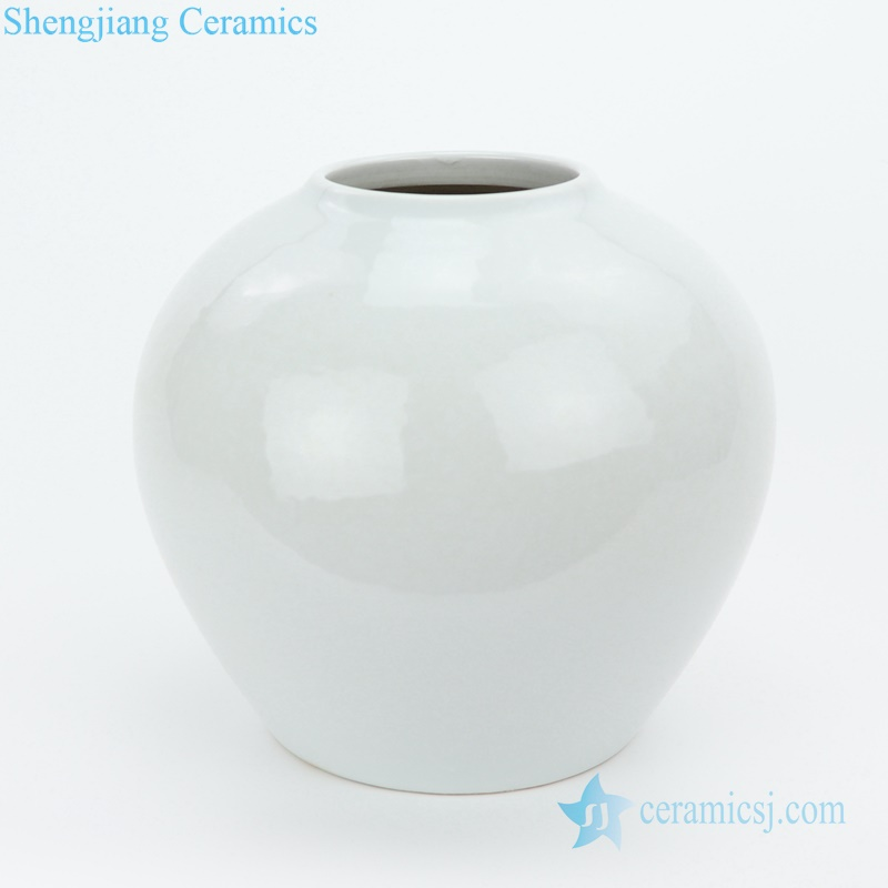 plain white porcelian vase