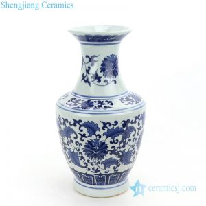 RZNJ07 Jingdezhen traditional elegant blue floral ceramic vase