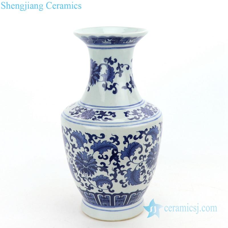 elegant blue floral ceramic vase