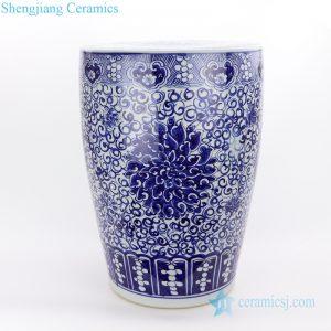 RZQB01 Jingdezhen traditional hand paint lotus ceramic stool