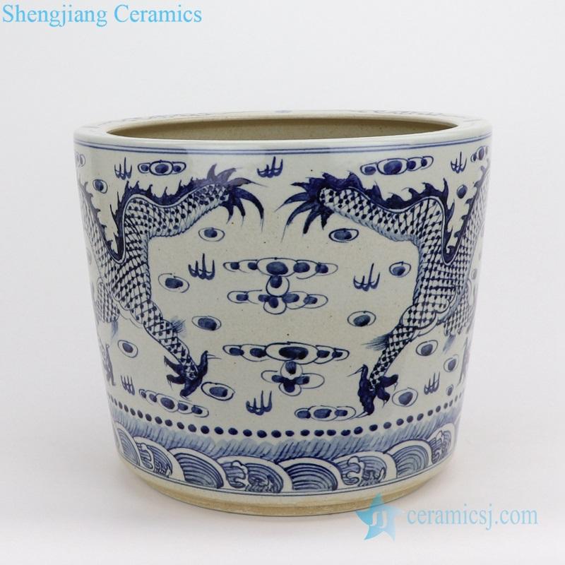 pair of dragon ceramic pot