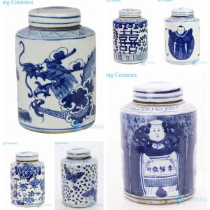 RZKT11-HM Hand painted China antique house decor ceramic tin jars
