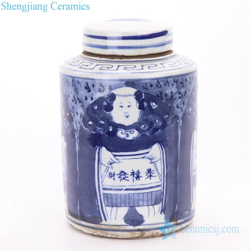 Japan style ceramic tin jar