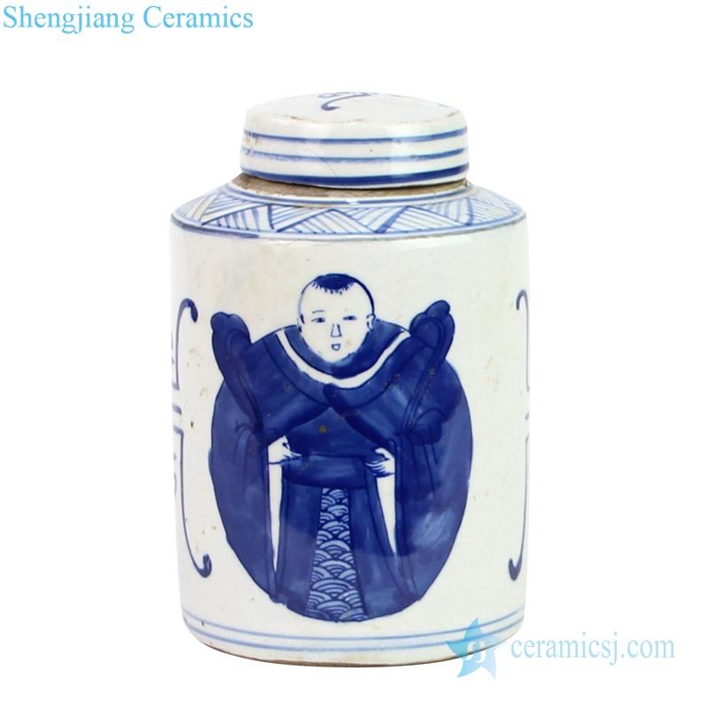 China kid ceramic tin jar