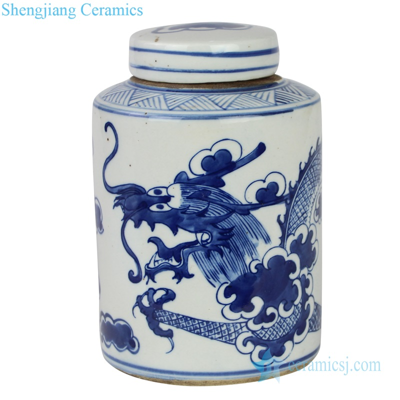 China dragon ceramic jar