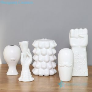 RZLK29-33 Post modern matte white ceramic vase