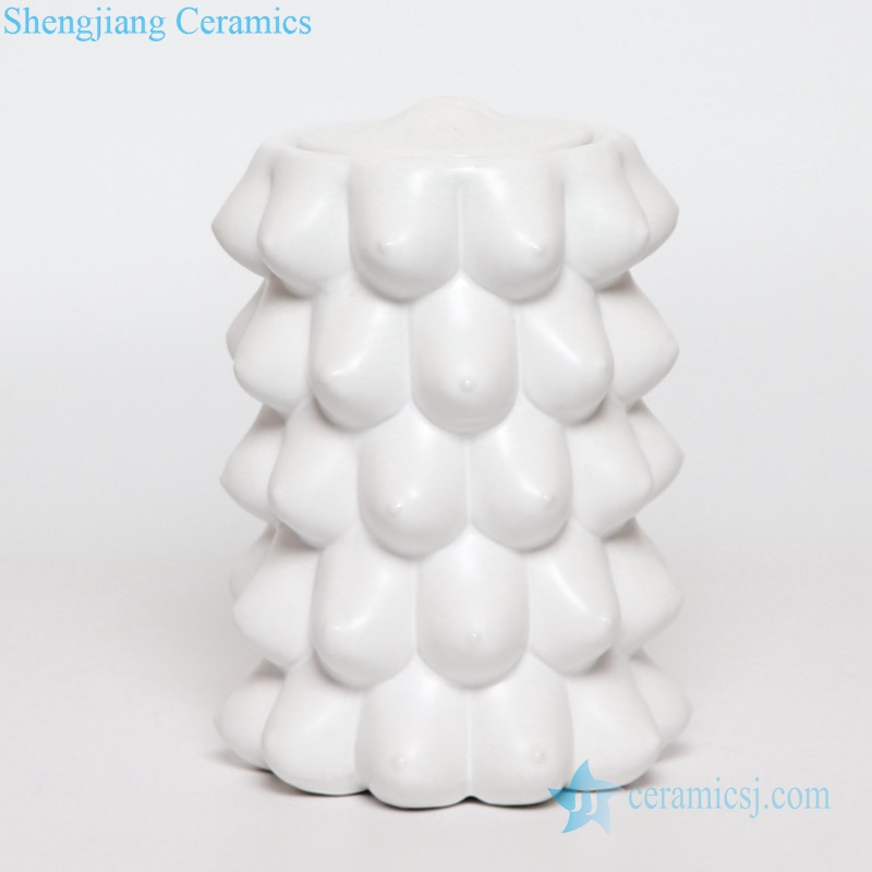 breast ceramic vase