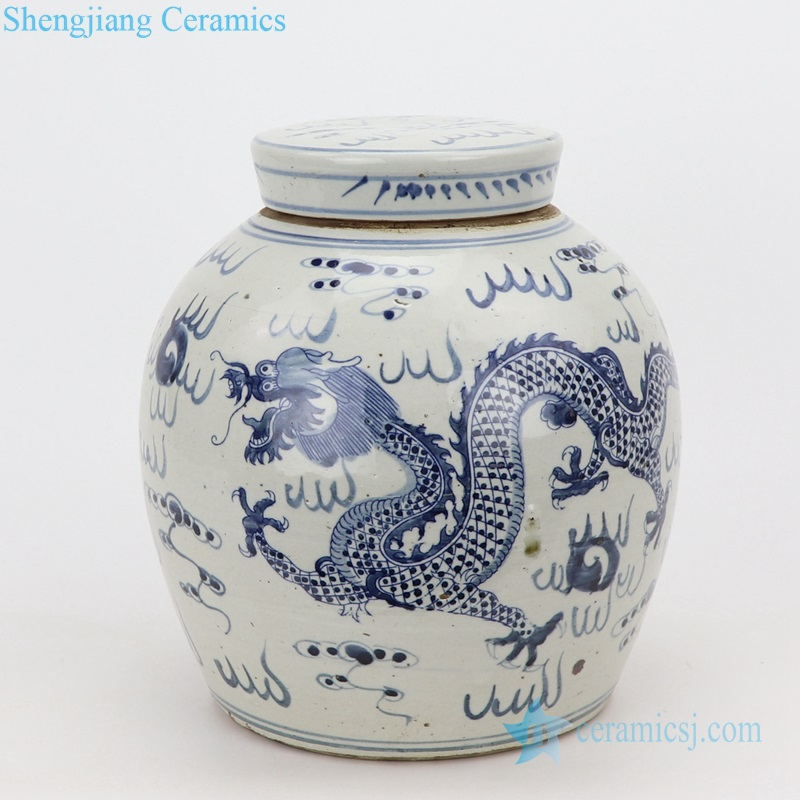 dragon porcelain pot