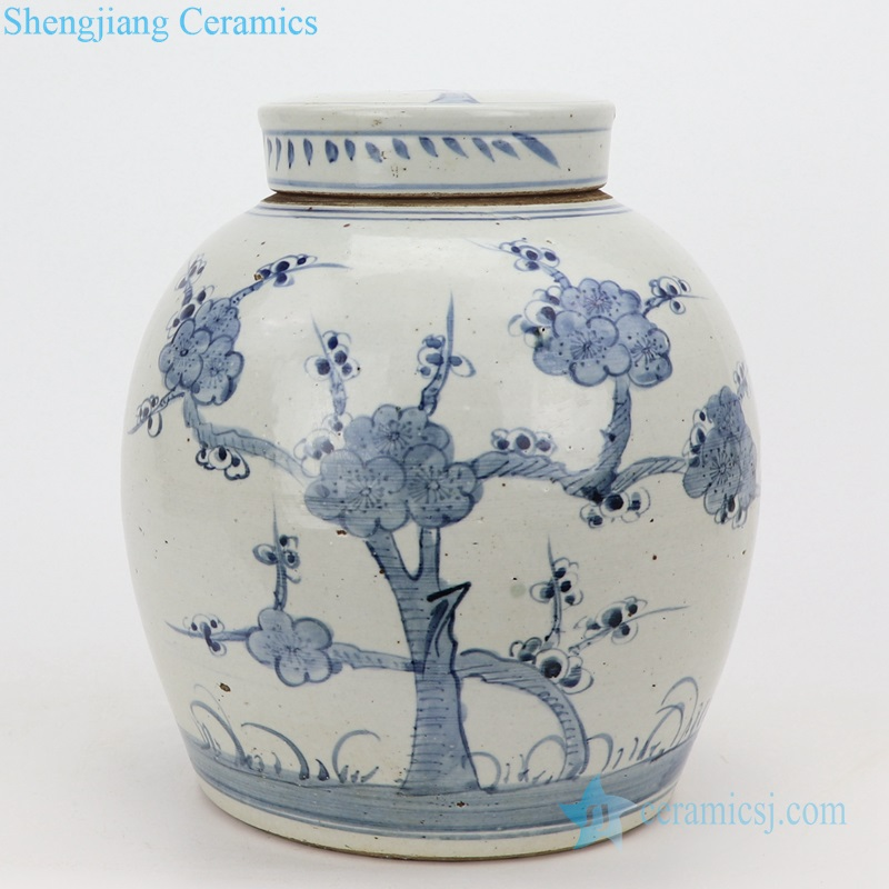 plum flower ceramic pot