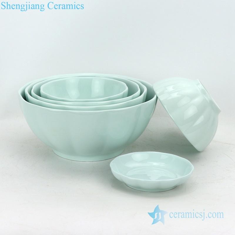 celadon pumpkin porcelain bowl