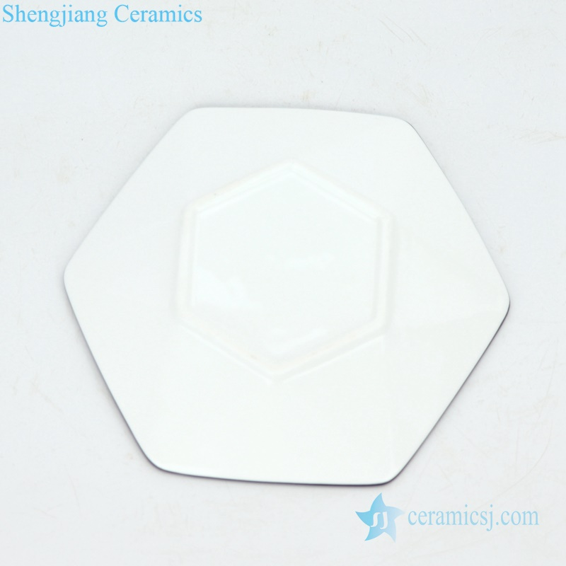 Six-pointed star ceramic plate