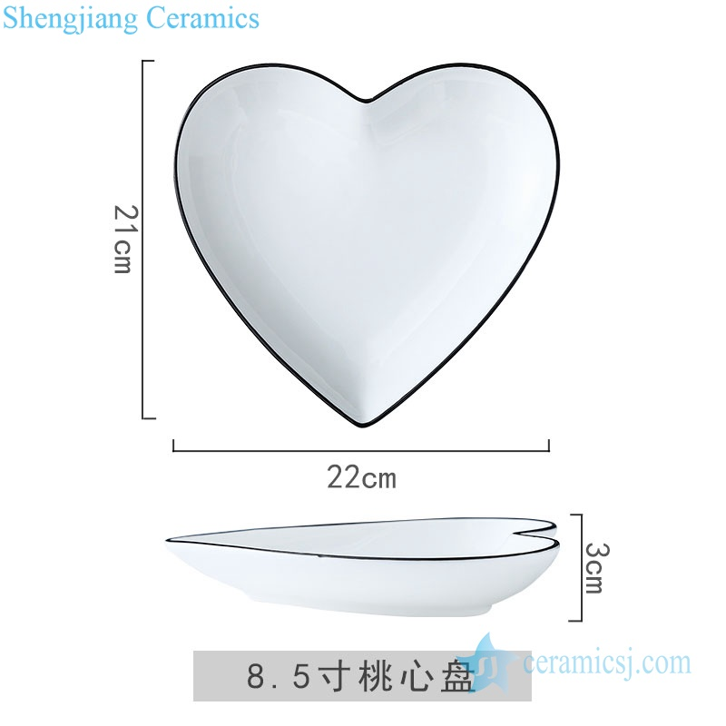 heart shape dinner ware