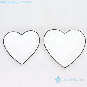 RZOB--15-A/B High quality heart shape porcelain dinner ware