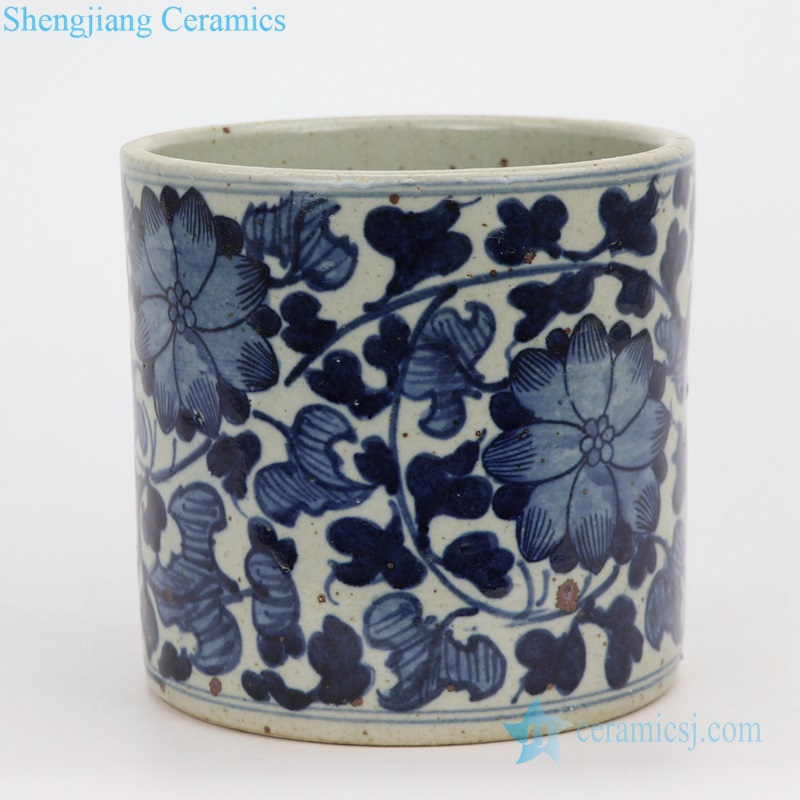 mini cylinder ceramic planter