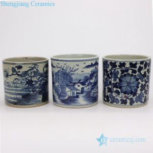 RZPJ06-ABC Hand painted old style China life ceramic pen holder
