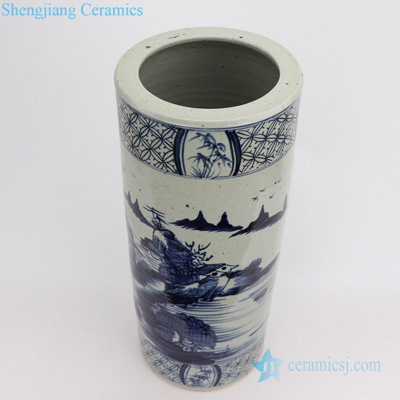 landscape ceramic umbrella stand